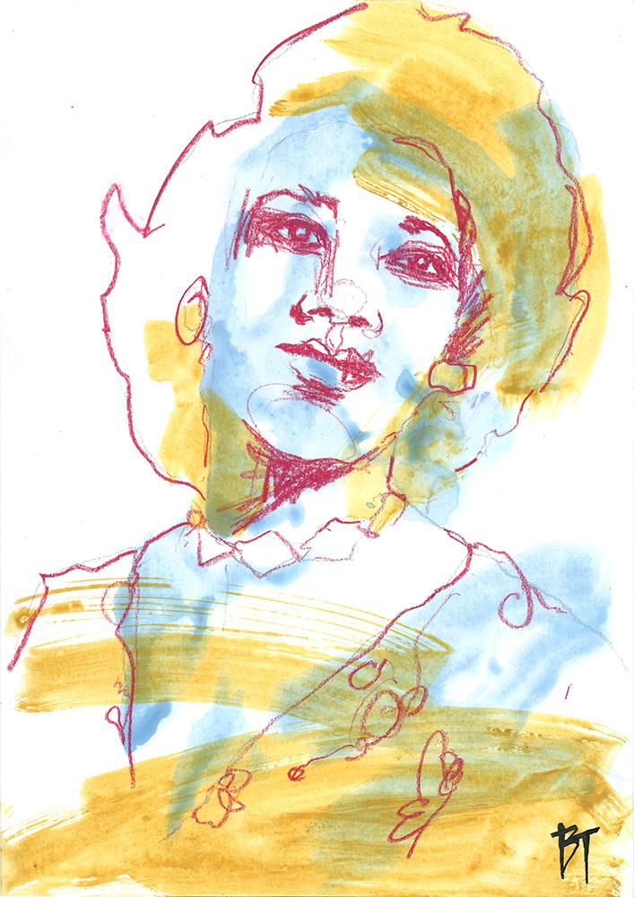 Bert Taken - portrait 001 (paper 21x29,7cm)