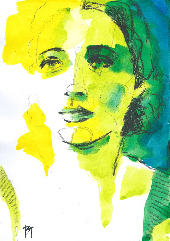 Bert Taken - portrait 009 (paper 21x29,7cm)