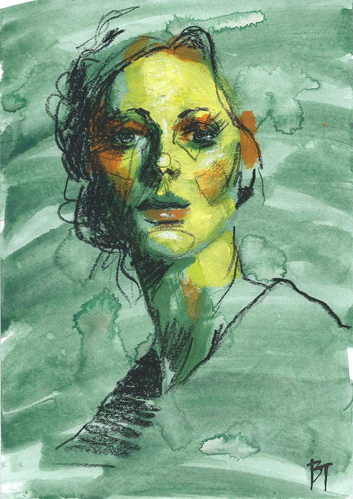 Bert Taken - portrait 013 (paper 21x29,7cm)