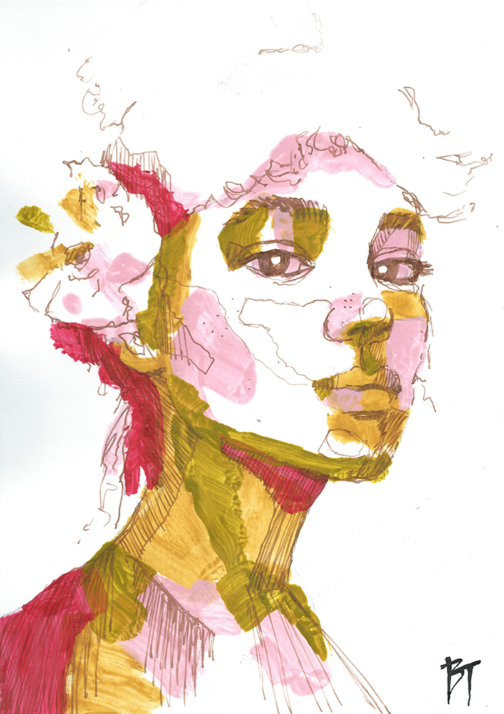 Bert Taken - portrait 017 (paper 21x29,7cm)