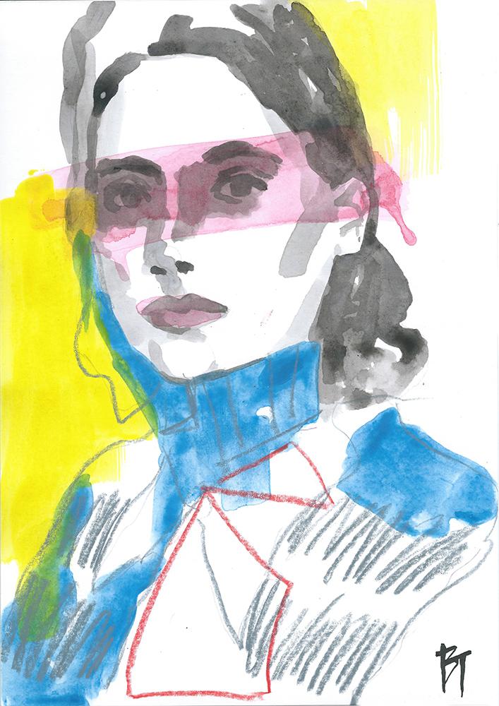 Bert Taken - portrait 018 (paper 21x29,7cm)