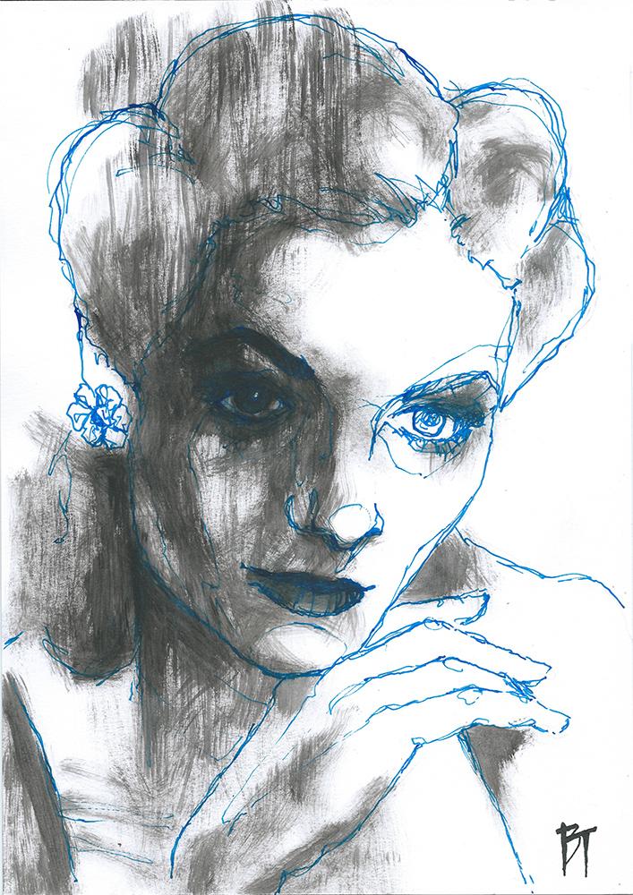 Bert Taken - portrait 034 (paper 21x29,7cm)