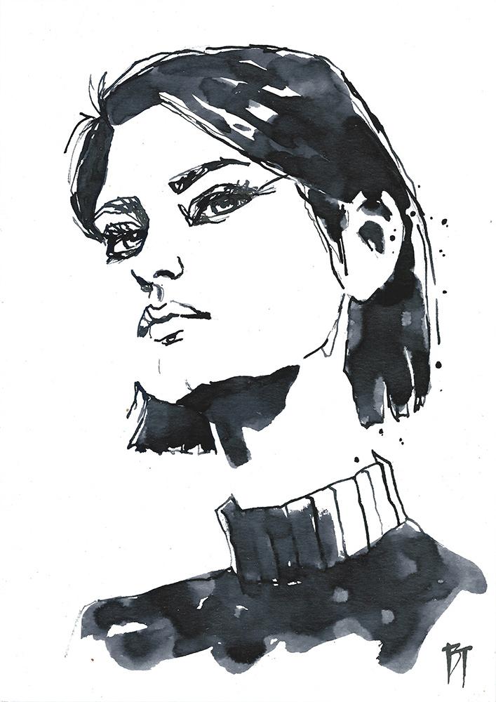 Bert Taken - portrait 074 (paper 21x29,7cm)