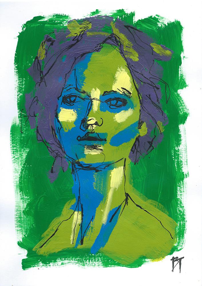 Bert Taken - portrait 077 (paper 21x29,7cm)