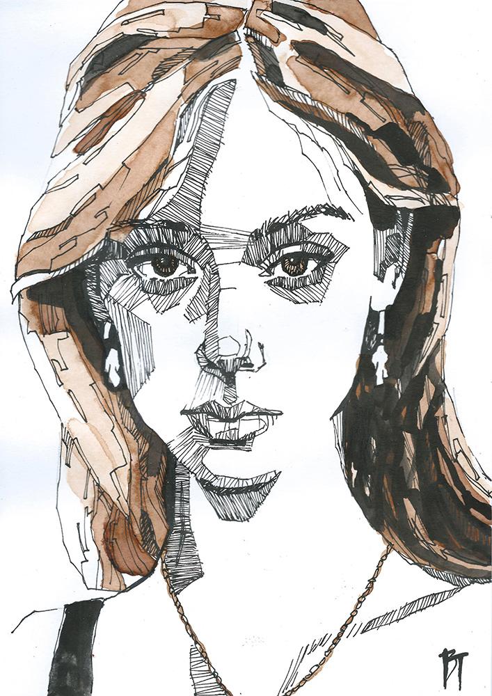 Bert Taken - portrait 080 (paper 21x29,7cm)