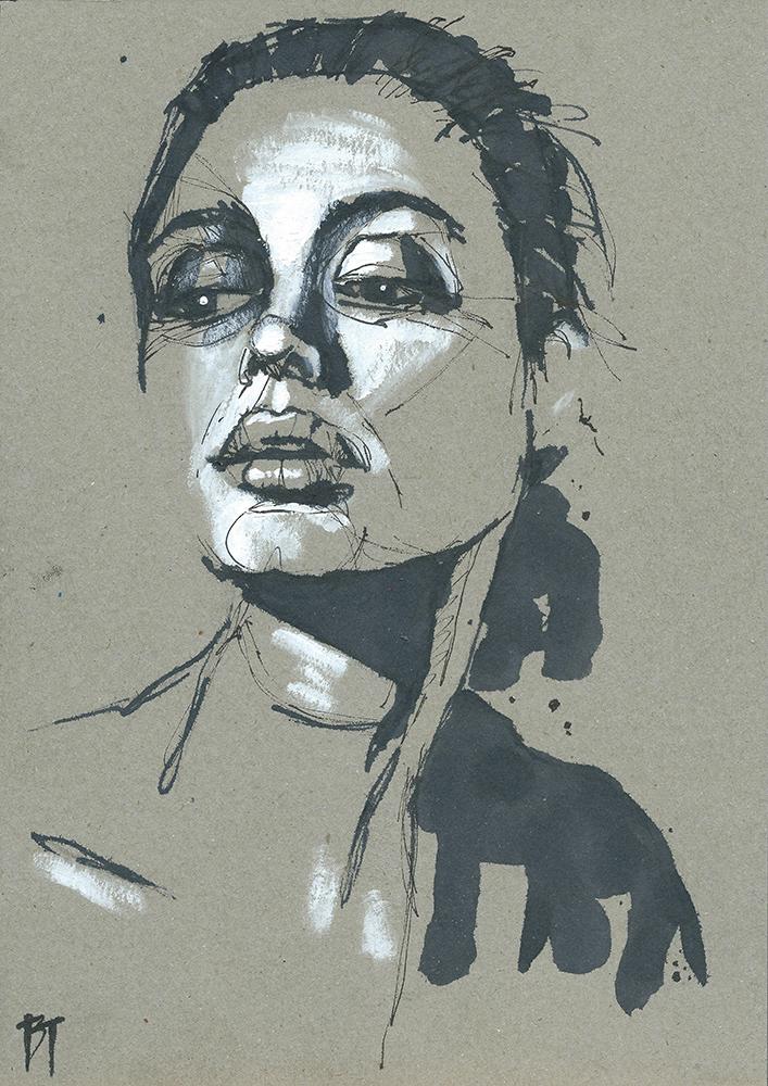Bert Taken - portrait 089 (paper 21x29,7cm)