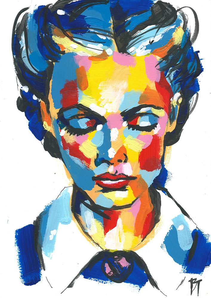 Bert Taken - portrait 095 (paper 21x29,7cm)