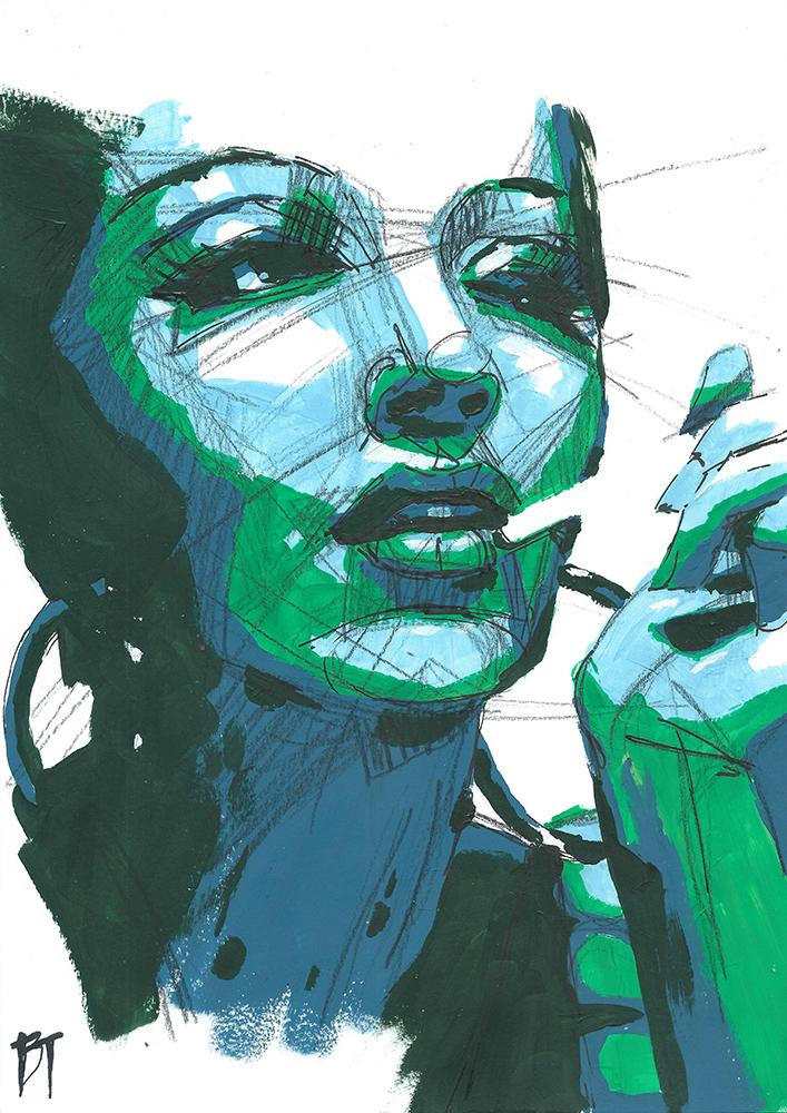 Bert Taken - portrait 099 (paper 21x29,7cm)
