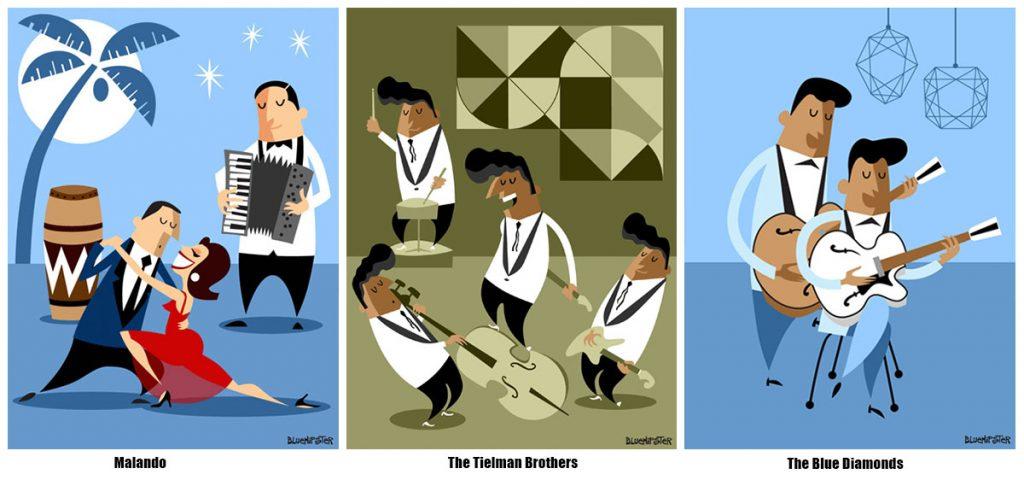 Nederpop_historie_02 Malando - The Tielman Brothers - The Blue Diamonds