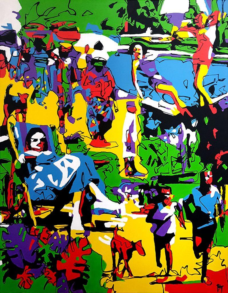 So I went, never told my nearest neighbours - Bert Taken (70x90cm acrylic on canvas)