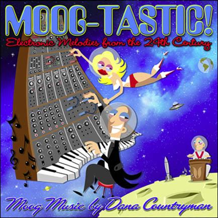 Moog-Tastic cd cover design