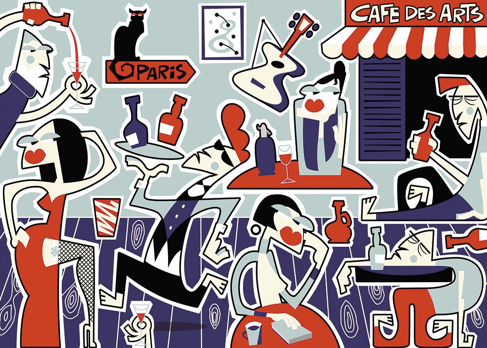 BlueHipster - Cafe des Arts (140x100cm)