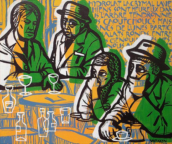 BlueHipster - café des poètes (60x50cm)