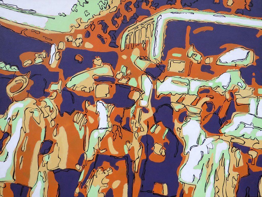 Nairobi, Kenya - And then we entered a world where bones break easier than hearts - Bert Taken (acrylic on canvas 60x80 cm)