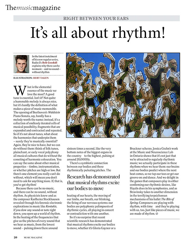 Magazine illustration - Its all about rhythm