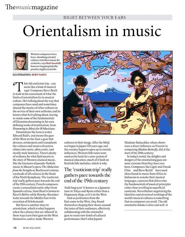 Magazine illustration - Orientalism in Music