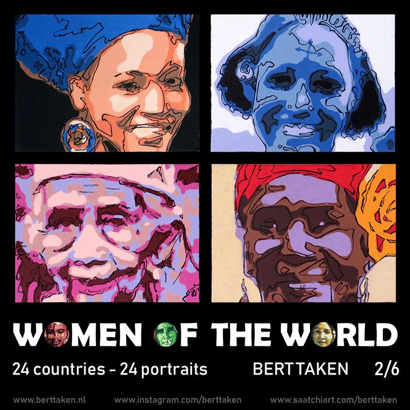 Women of the World 24 portraits (each portrait acrylic on canvas 30x45cm) 2/6
