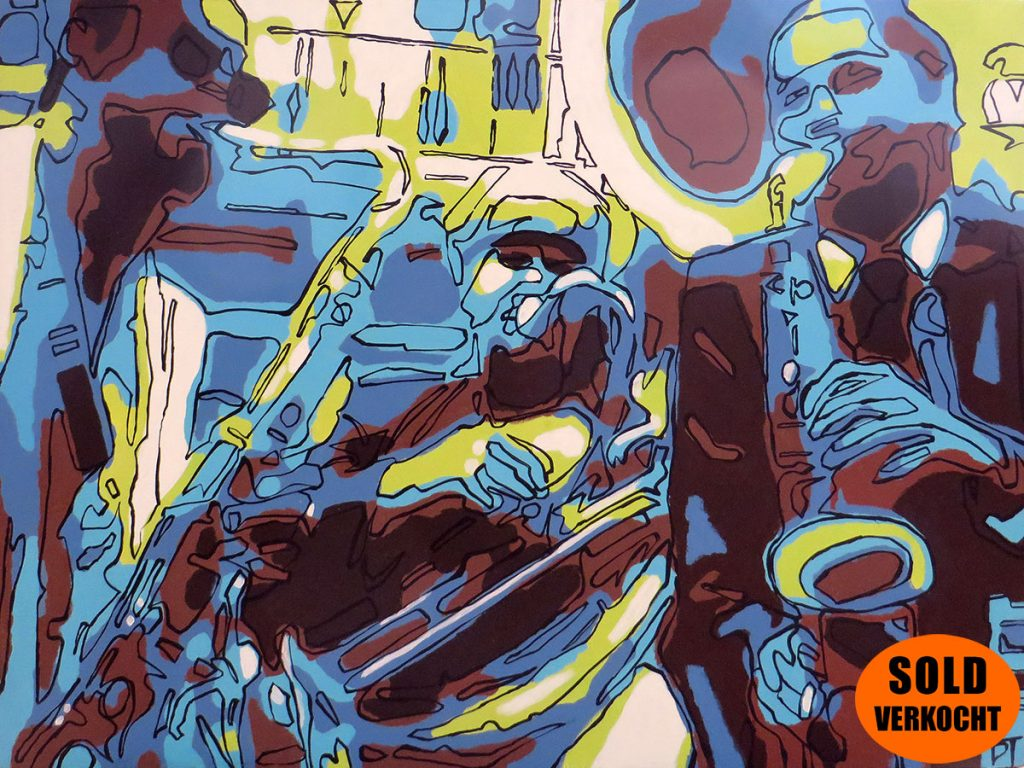 New Orleans, USA - A place to hide for the marching horns while tasting the naked midnight - Bert Taken (acrylic on canvas 60x80 cm) SOLD