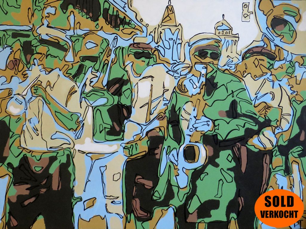 New Orleans, USA - Because the Cajun Queen must dance right on down Bourbon Street - Bert Taken (acrylic on canvas 60x80 cm) SOLD